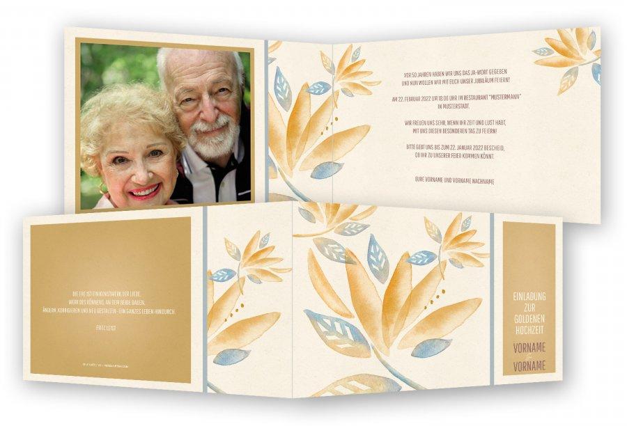 goldene hochzeit einladungen vorlage | feinekarten, Einladungsentwurf