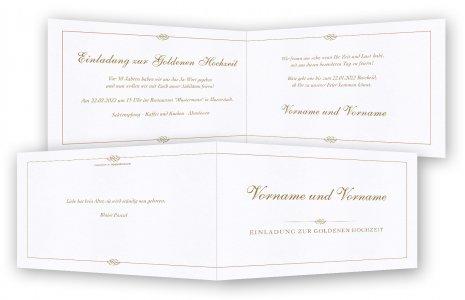 goldene hochzeit einladung einladungskarten