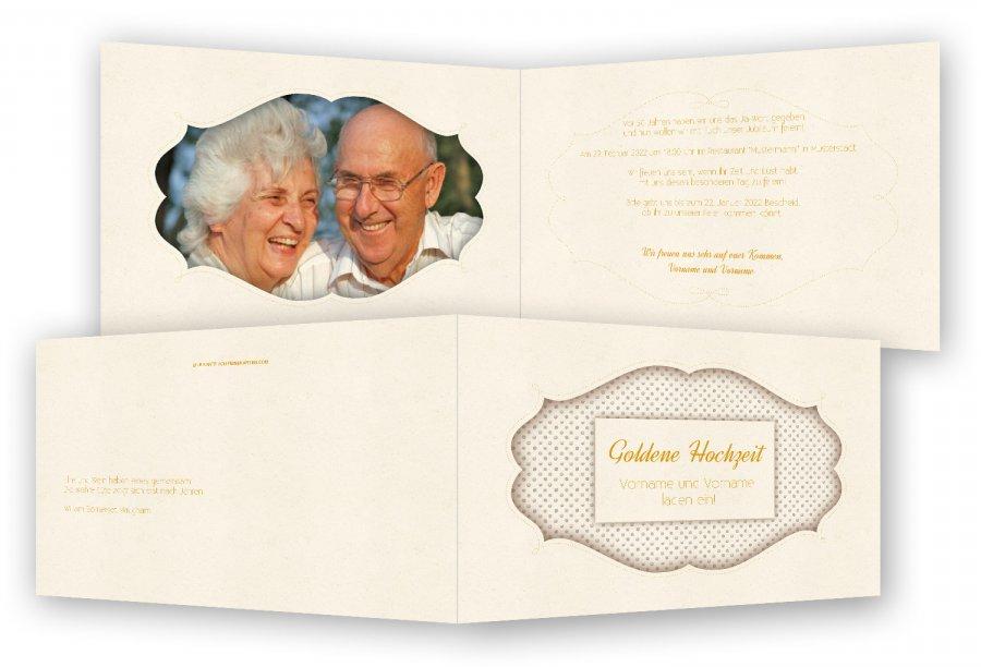 goldene hochzeit einladungskarte vorlage | feinekarten, Einladung