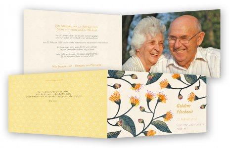 Vorlage Goldene Hochzeit Einladungskarte