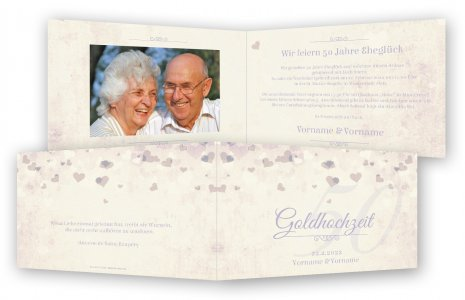 Schön Unsere Einladungen Zur Goldenen Hochzeit Werden Sie Begeistern. Vorlage  Goldhochzeit Einladungen. Herzchen Druck