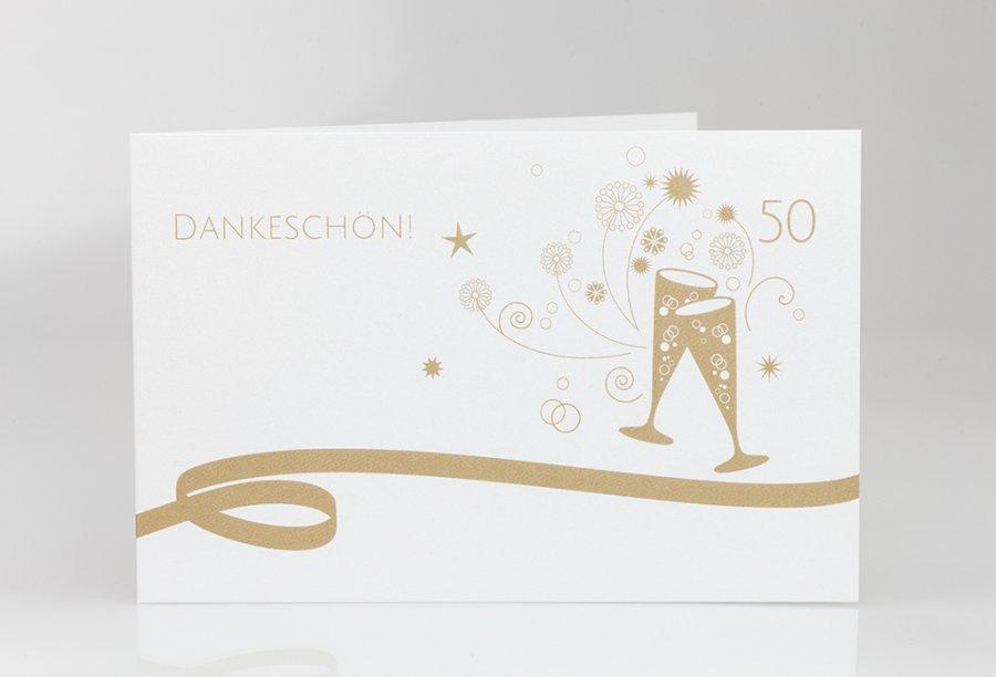Präferenz Danksagungskarten Goldene Hochzeit   Feinekarten.com LH25