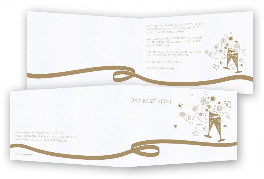 Einzigartig Danksagung Goldene Hochzeit   Feinekarten.com UL97