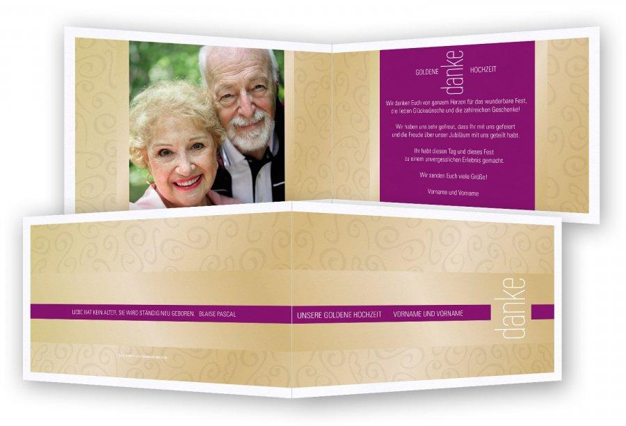 Danksagung Goldene Hochzeit Feinekartencom