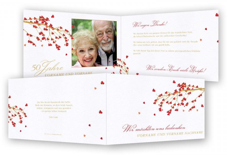 Goldene Hochzeit Danksagungskarten | Feinekarten.com