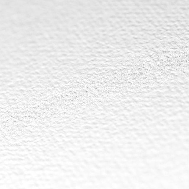 Sehr prachtvoll wirkt dieses weiße Papier durch seine Filzstruktur ...